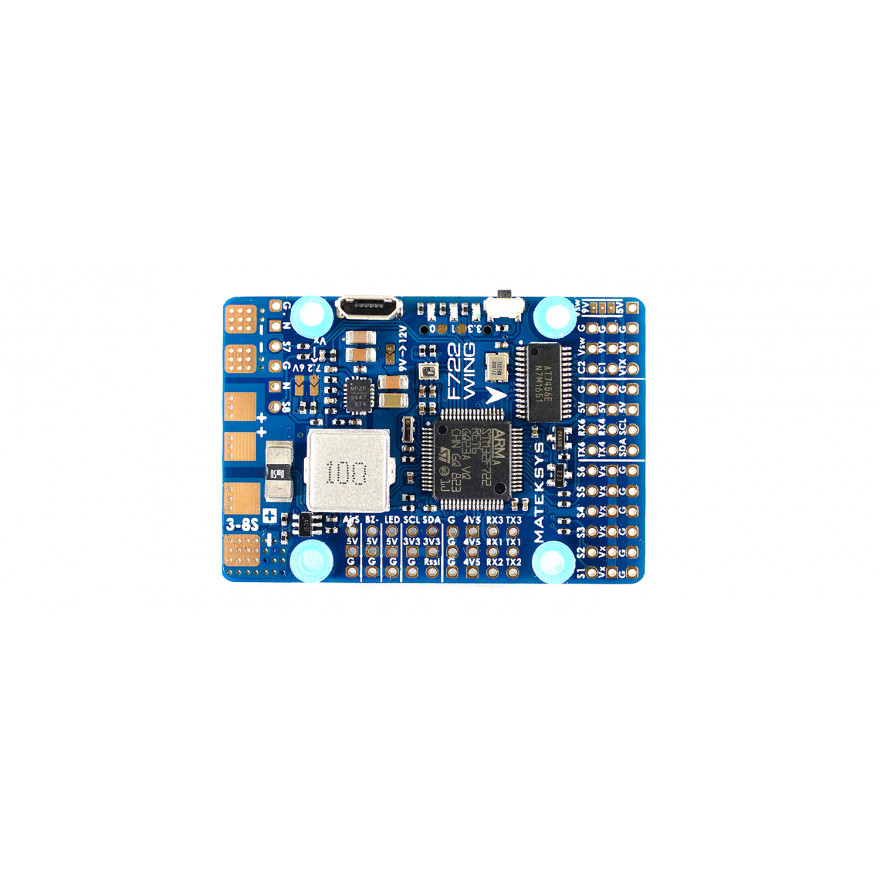 Matek F722-WING F7 INAV Wing Flight Controller with OSD, BEC, Camera Switch