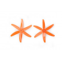 Gemfan 5040 5x4 Sechsblatt orange PC Propeller 2x CW 2x CCW (2L2R)